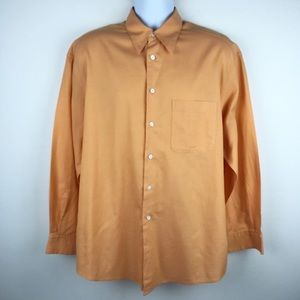 ERMENEGILDO ZEGNA Soft Orange Long Sleeve Shirt